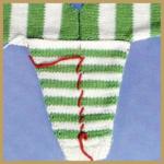 Ärmel und Knopflöcher stricken, annähen und Einnähen
