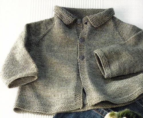 Baby Strickjacke schlicht und schön, Anleitung zum Stricken