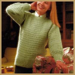 Damen Pullover mit apartem Streifenmuster, kostenlose Anleitung