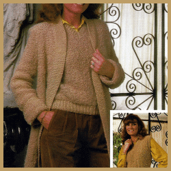 Damen Pullunder mit passender Jacke, kostenlose Anleitung
