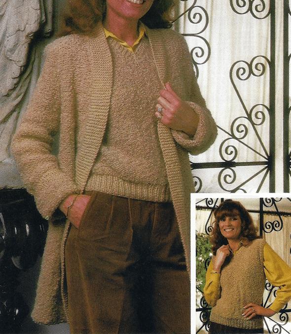 Handarbeitszirkel Damen Pullunder Mit Passender Jacke Kostenlose
