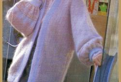 Damen Strickjacke aus Mohairwolle, kostenlose Anleitung
