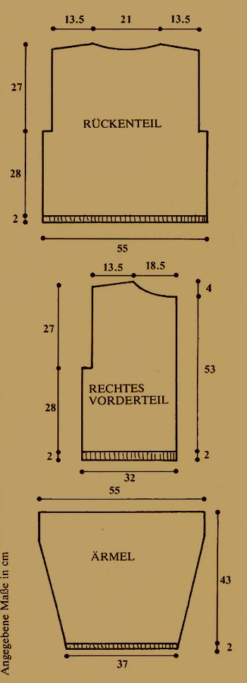 Damen Strickjacke mit Rautenmuster, kostenlose Anleitung