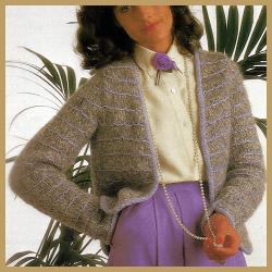 Damen Strickweste im französischen Stil selber stricken