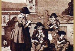 Englische Strickarbeiten, die Geschichte des Strickens in England