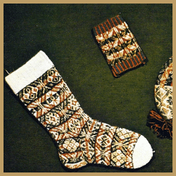 Fair Isle Strick Tradition, Fair Isle-Muster werden glatt rechts gestrick
