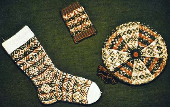 Fair Isle Strick Tradition, Fair Isle-Muster werden glatt rechts gestrick