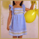 Gestricktes Festtagskleidchen für kleine Mädchen