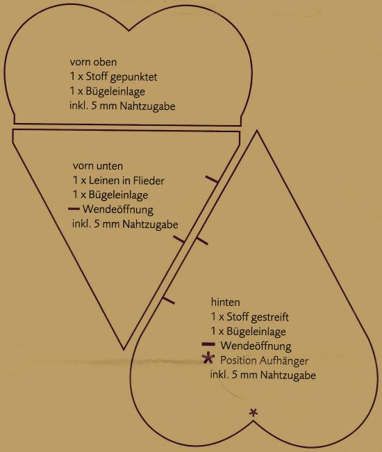 Genähtes Lavendel Duftkissen, ca. 11 cm lang