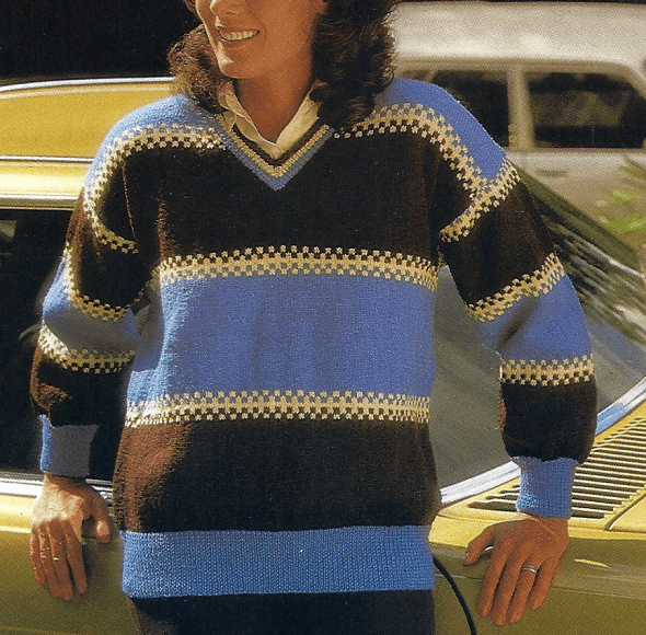 Gestreifter Damen Pullover, kostenlose Anleitung