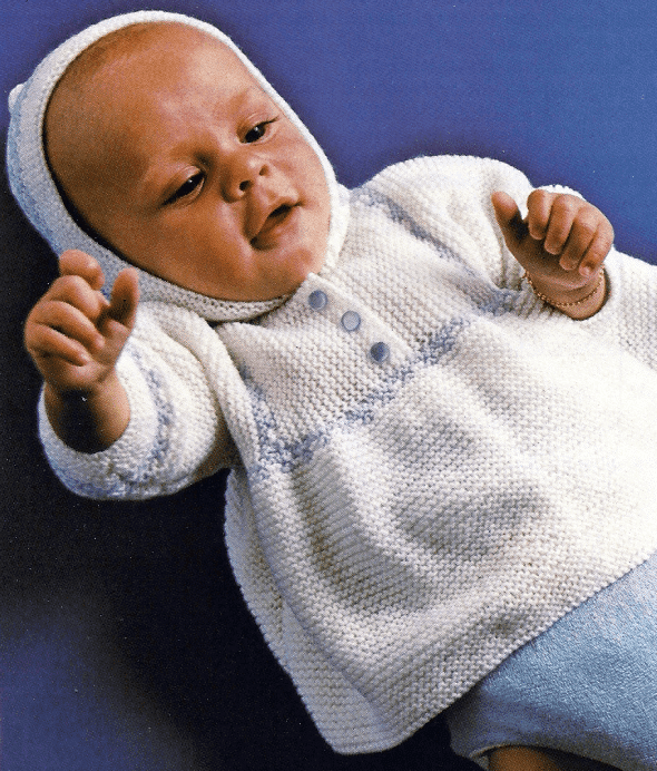 Handarbeitszirkel Gestrickte Babyjacke Mit Kapuze Kostenlose