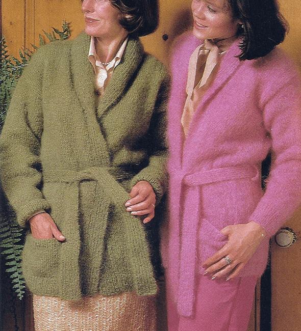 Handarbeitszirkel gestrickte damen mohair jacke mit - Kimono jacke damen ...