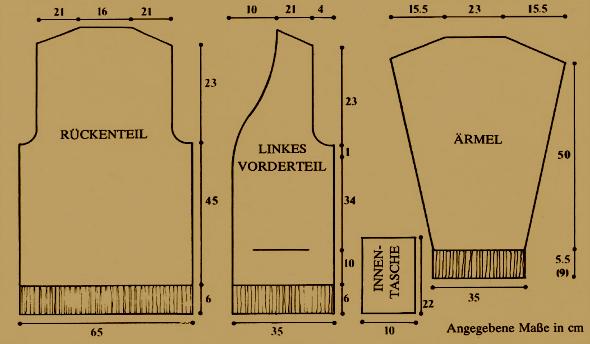 Gestrickte Herren Weste, kostenlose Anleitung zum stricken