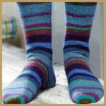 Gestrickte Socken ein überschaubares Strickprojekt