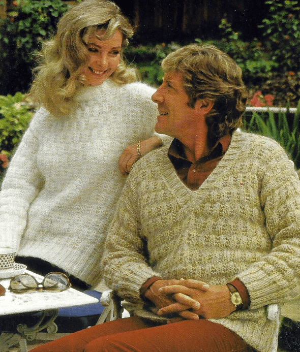 Zwei Gestrickte Sportliche Pullover für Herren und Damen