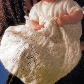Handarbeitszirkel Gestricktes Taufkleid Für Babies Und Kleinkinder