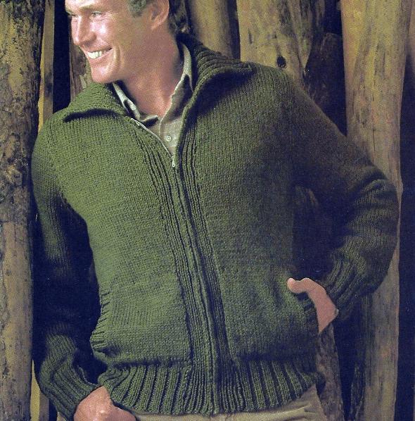 Herren Strickjacke Jacke mit Reißverschluss
