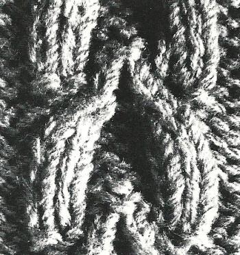 Zopfmuster Pullover mit Schalkragen