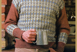 Herrenpullover mit Fair Isle-Muster