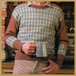 Herrenpullover mit Fair Isle-Muster, in fünf Farben Stricken