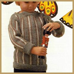 Jungen Pullover mit Längsstreifen
