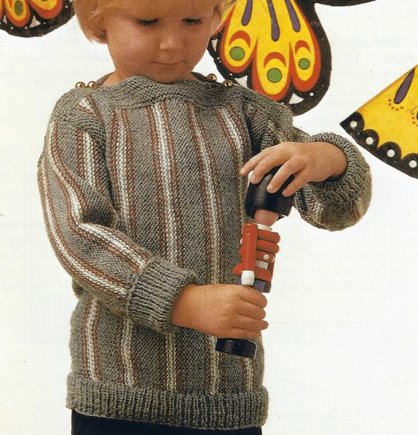 Handarbeitszirkel | Jungen Pullover mit Längsstreifen, kostenlose ...