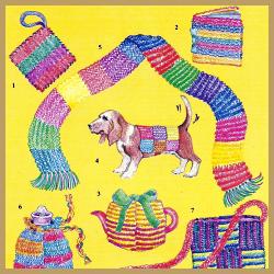 Lappen stricken, diese Stricksachen sind auch für Kinder leicht zu lernen