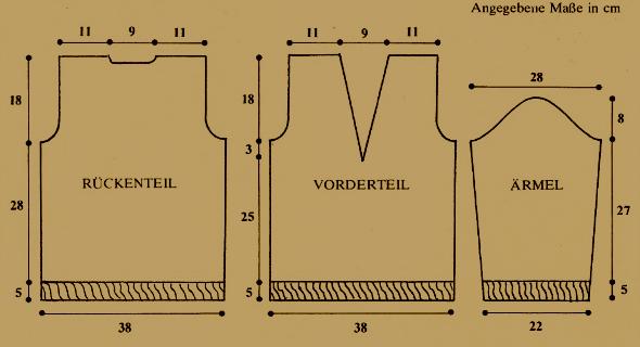 Mädchenpullover mit V-Ausschnitt, kostenlose Anleitung