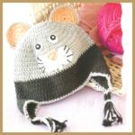 Häckelmütze Maus für kleine Kinder -Anleitung