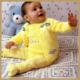 Strickanleitung Babypullover mit passender Hose