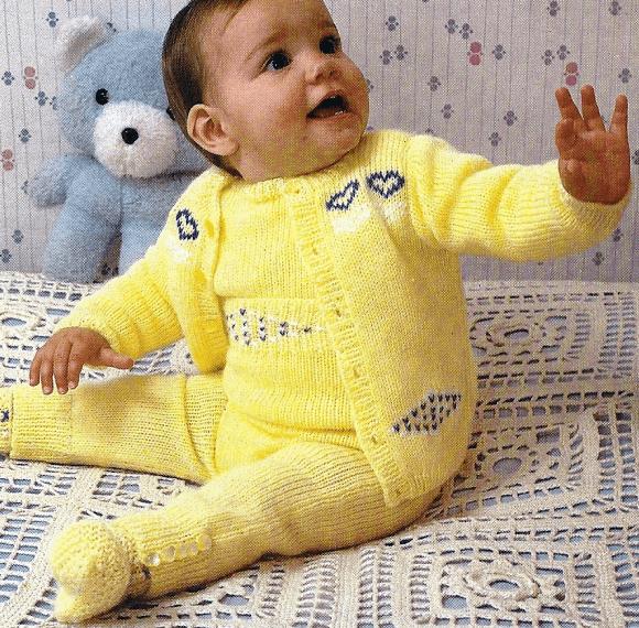 Handarbeitszirkel | Strickanleitung Babypullover mit dazu passender Hose