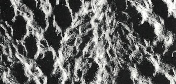 Strickanleitung Bettjäckchen in Ajour aus gebürstetem Garn