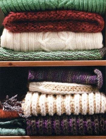 Aufbewahrung von Wolle