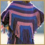 Umschlagtuch aus Alpakawolle