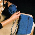 Verwendung von aufgezogener Wolle
