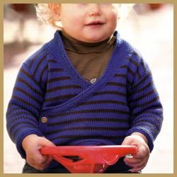 Wickel Jäckchen für Mädchen und Jungs, kostenlose Anleitung