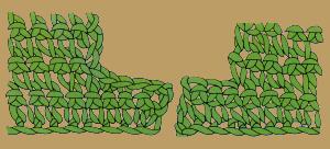 Abnehmen von einzelnen festen Maschen beim Häkeln