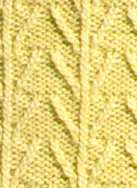 Strickmuster Baum
