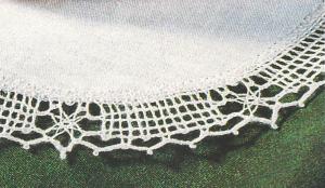 Ovale Spitze beim Klöppeln
