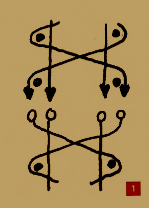 Muster beim Klöppeln