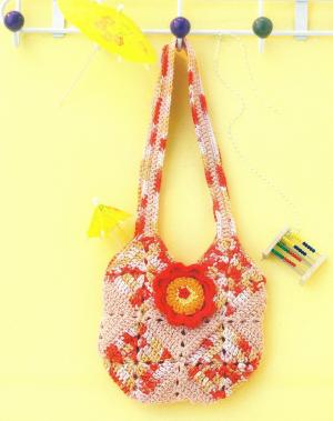 Gehäkelte Kinder-Patchwork-Tasche