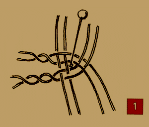 Weitere Klöppel Techniken, Garnstärke, Verbindungen, Knoten