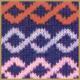 Strickmuster Bunte Streifen in schönen Farben