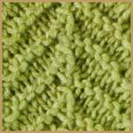 Köperstrickmuster sind aus diagonalen Linien aufgebaut