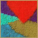Bunte Flächenaufteilungen in Pullovern oder Jacken