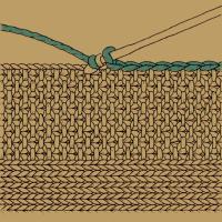 Gehäkelte Ränder bei Strickarbeiten