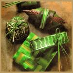 Geschenke Basteln mit Gräsern und Blättern