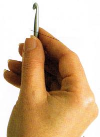Messerhaltung Häkeln