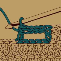 Horizontales Knopfloch in Stäbchen
