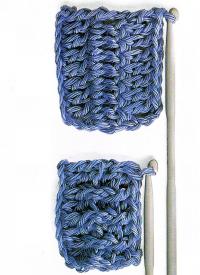 Verschiedene Muster können auch bei gleicher Garn und Nadelstärke ganz unterschiedliche Maschendichten zeigen.